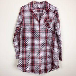 Victoria's Secret Intimates & Sleepwear - Victoria's Secret Long Plaid Sleep Shirt | Sz S